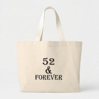 Bolsa Tote Grande 52 e para sempre design do aniversário