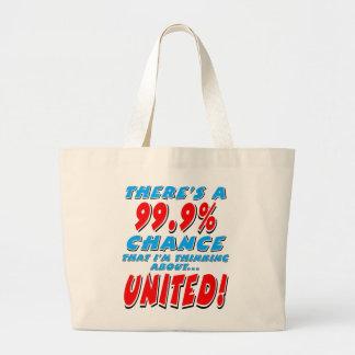 Bolsa Tote Grande 99,9% UNIDO (preto)