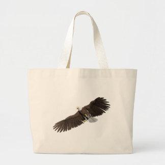 Bolsa Tote Grande A águia americana com as asas em para baixo afaga