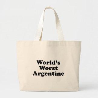 Bolsa Tote Grande A Argentina a mais má do mundo
