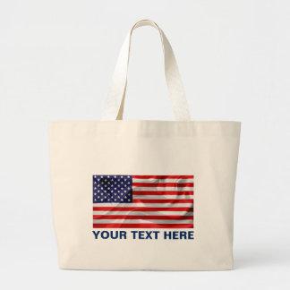 Bolsa Tote Grande A bandeira dos Estados Unidos da América