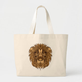 Bolsa Tote Grande A cabeça do leão