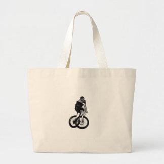 Bolsa Tote Grande A camisa do Mountain bike T dos meninos apresenta
