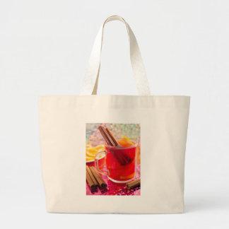 Bolsa Tote Grande A caneca transparente com citrino mulled o vinho,