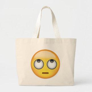 Bolsa Tote Grande A cara com rolamento Eyes Emoji