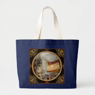 Bolsa Tote Grande A cidade - Amsterdão NY - vida começa 1941