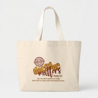 """Bolsa Tote Grande A """"doutrina importa"""" a sacola enorme (natural)"""