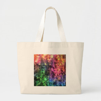 Bolsa Tote Grande A extremidade do abstrato do arco-íris