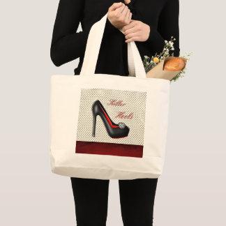 Bolsa Tote Grande A forma feminino dos calçados dos saltos do