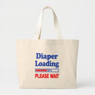 Bolsa Tote Grande a fralda que carrega por favor espera