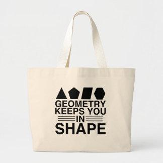 Bolsa Tote Grande A geometria mantem-no na piada da chalaça da