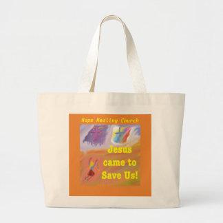 Bolsa Tote Grande A igreja cura Jesus da esperança salvar a sacola