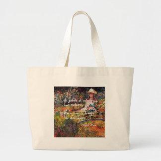 Bolsa Tote Grande A natureza no art. de Monet