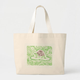 Bolsa Tote Grande A tartaruga de viagem