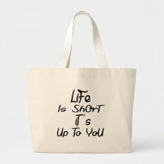 Bolsa Tote Grande a vida é curta