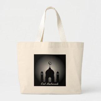 Bolsa Tote Grande Abóbada da mesquita e silhueta do minarete