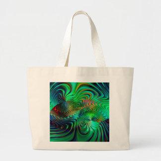 Bolsa Tote Grande Abstrato do verde esmeralda