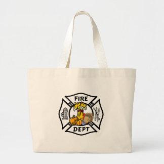Bolsa Tote Grande Acção de graças do sapador-bombeiro