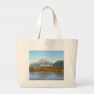 Bolsa Tote Grande Alaska: montanhas, floresta e rio, EUA