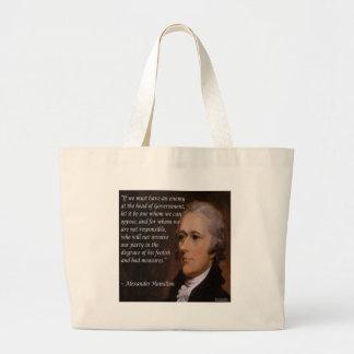 Bolsa Tote Grande Alexander Hamilton & citações inimigas da nação