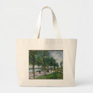 Bolsa Tote Grande Allée de árvores de castanha - Alfred Sisley