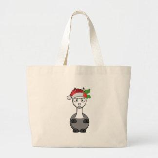 Bolsa Tote Grande alpaca do xmas Papai Noel