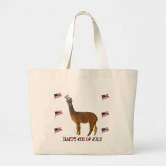 Bolsa Tote Grande Alpaca feliz 4o julho