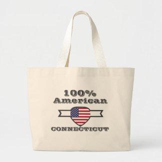 Bolsa Tote Grande Americano de 100%, Connecticut