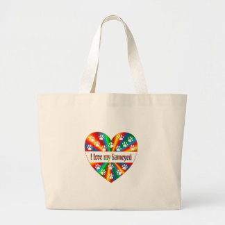 Bolsa Tote Grande Amor do Samoyed