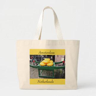 Bolsa Tote Grande Amsterdão, Países Baixos, queijo, loja,