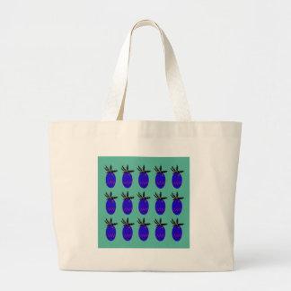 Bolsa Tote Grande Ananases do design azuis