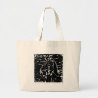 Bolsa Tote Grande anatomia de esqueleto humana de tokyo do yaie