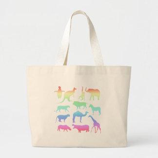 Bolsa Tote Grande Animais selvagens