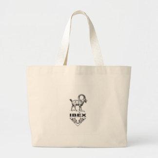 Bolsa Tote Grande Animal extravagante do íbex