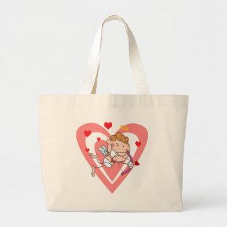 Bolsa Tote Grande Anjo bonito e Loving do Cupido