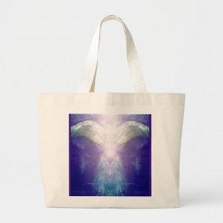Bolsa Tote Grande Anjo violeta de prata