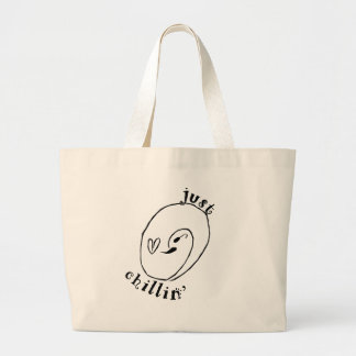 Bolsa Tote Grande Apenas sacola do jumbo de Chillin