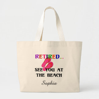Bolsa Tote Grande Aposentado - veja-o na praia, modelo