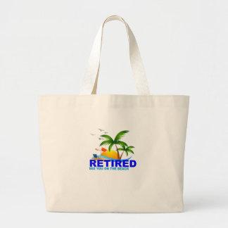 Bolsa Tote Grande Aposentado veja-o no t-shirt da praia.