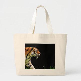 Bolsa Tote Grande Aproximação do tigre - trabalhos de arte do animal