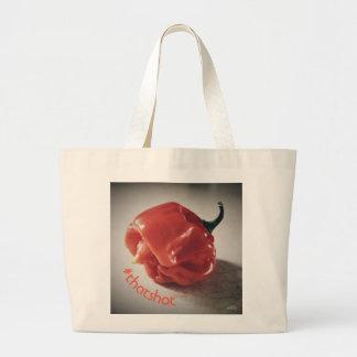 Bolsa Tote Grande Aquela é sacola quente de Hashtag