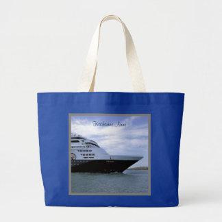 Bolsa Tote Grande Arco lustroso do navio de cruzeiros personalizado
