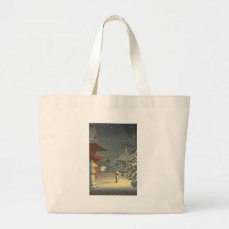 Bolsa Tote Grande Arte de Shin Hanga da venda do santuário de Koitsu