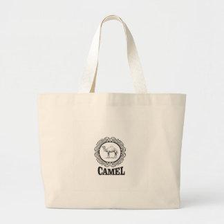 Bolsa Tote Grande arte do logotipo do camelo