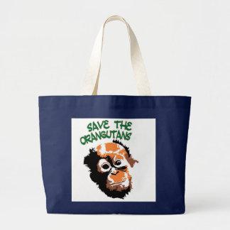 Bolsa Tote Grande Arte do orangotango
