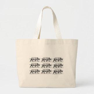 Bolsa Tote Grande Arte Running dos Rhinos