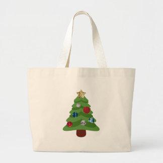 Bolsa Tote Grande árvore de Natal do emoji