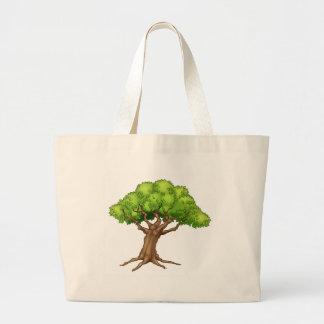 Bolsa Tote Grande Árvore dos desenhos animados