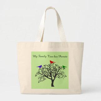 Bolsa Tote Grande Árvore genealógica com a sacola do jumbo dos