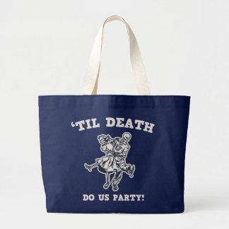 Bolsa Tote Grande 'Até a morte faça-nos